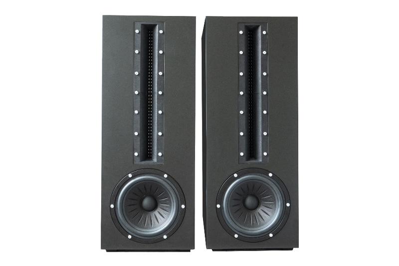 Proteus column speaker with USound MEMS speakers arrays inside.