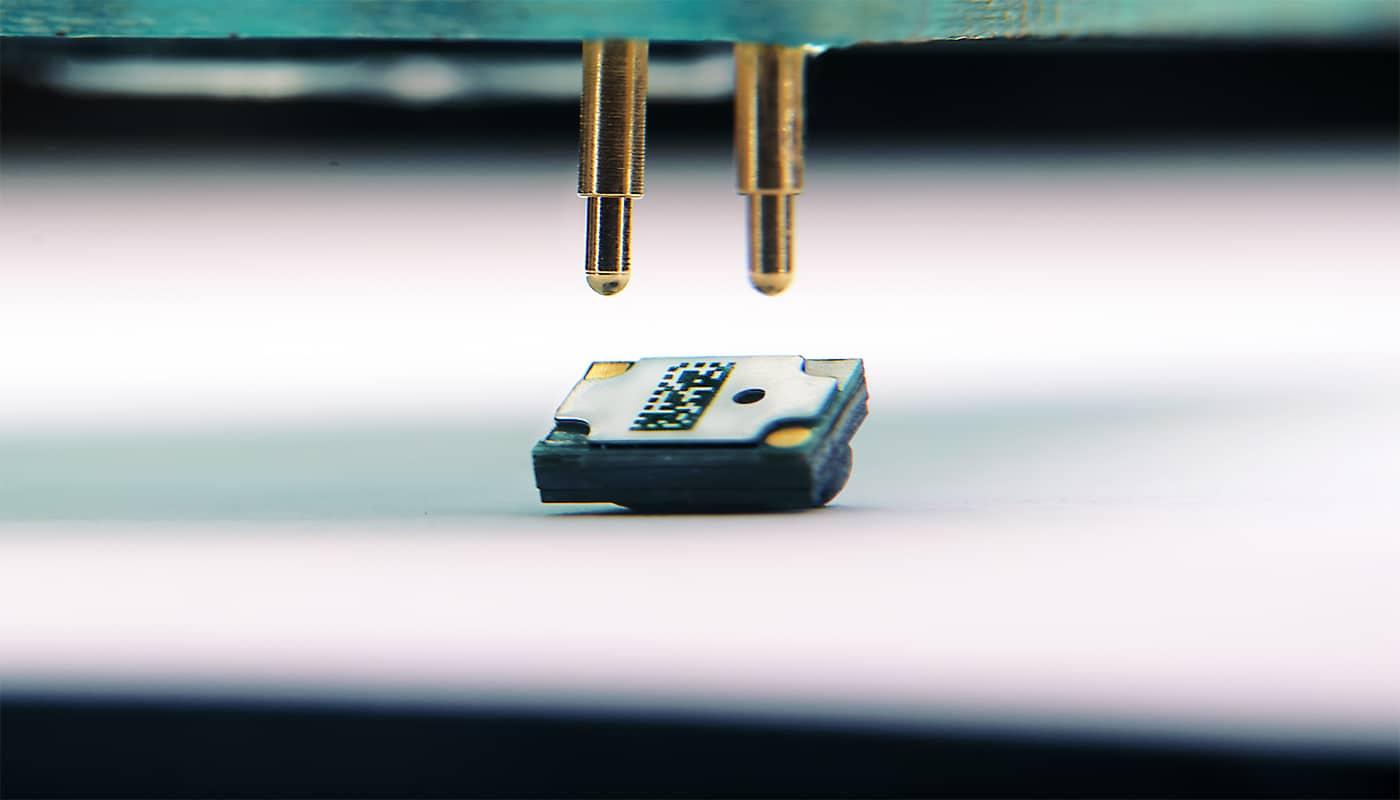 USound MEMS speaker integration with pogo pins