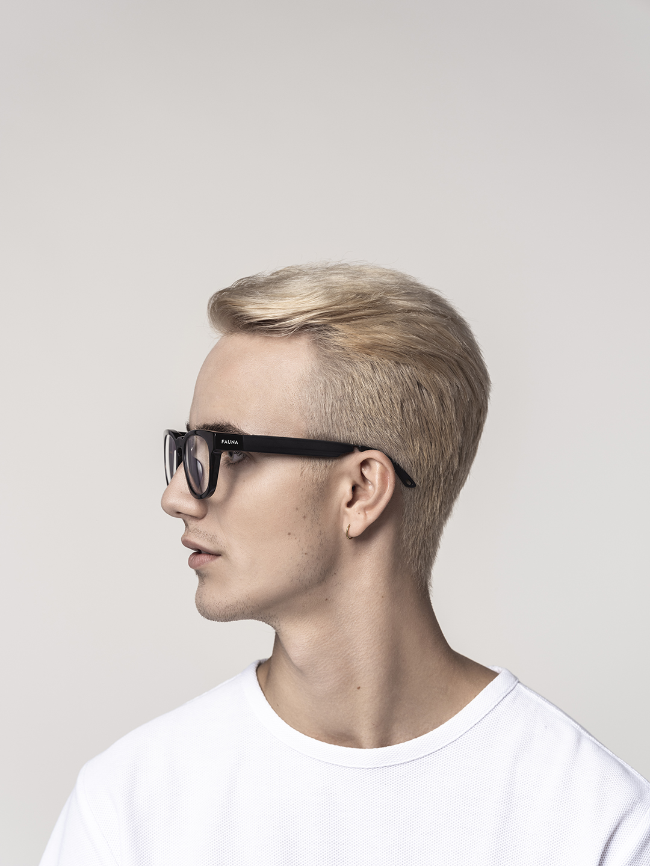 Men wearing fauna audio glasses