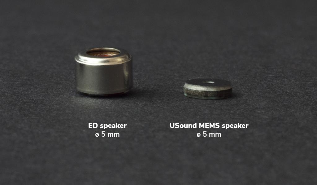 USound MEMS speaker vs ED comparison